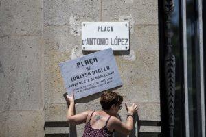 Comunicado por el cambio de nombre de la plaza Antonio López por de Idrissa Diallo