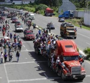 Migranti bambini nella carovana dei centroamericani che chiedono asilo