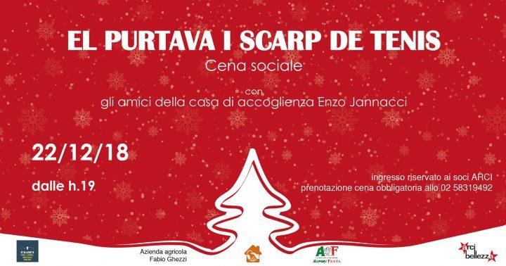 "Cena sociale ""El purtava i scarp de tenis"" all'Arci Bellezza di Milano"