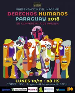 La CODEHUPY presentará su informe Derechos Humanos Paraguay 2018