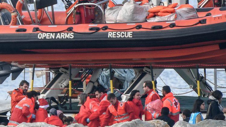 Reescue ship Proactiva Open arms ngo arrived Algeciras (Spain)