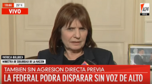 Gobierno argentino avala fusilamientos policiales