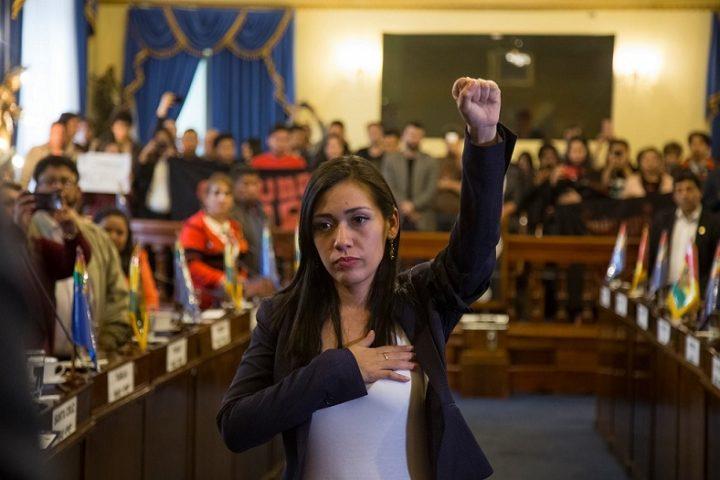 Salvatierra asume presidencia del Senado boliviano y destaca rol protagónico de mujeres y jóvenes
