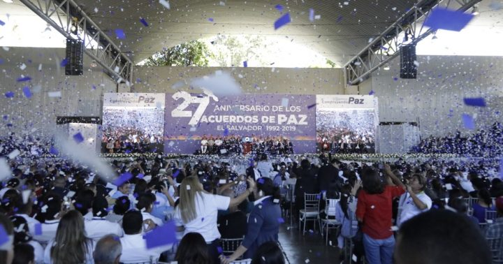 El Salvador conmemora el 27° aniversario de la firma de los Acuerdos de Paz