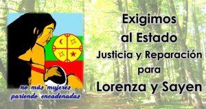 Chile: Organizaciones exigen justicia y reparación   para Lorenza Cayuhán y su hija Sayen