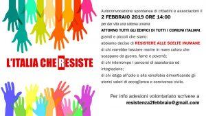 L'Italia che resiste, catena umana il 2 febbraio
