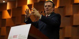 El canciller de México diseña nueva política exterior para su país