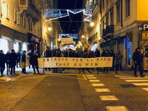 A Trieste la Marcia per la Pace percorre i luoghi della nonviolenza e della memoria