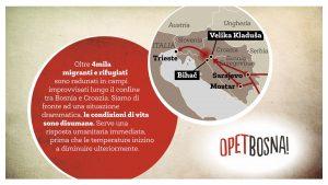 Opet Bosna, solidarietà verso i profughi bloccati al confine tra Bosnia e Croazia