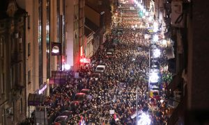 Manifestations à grande échelle pour la cinquième semaine en Serbie