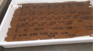 Se restaura la tabla periódica más antigua del mundo