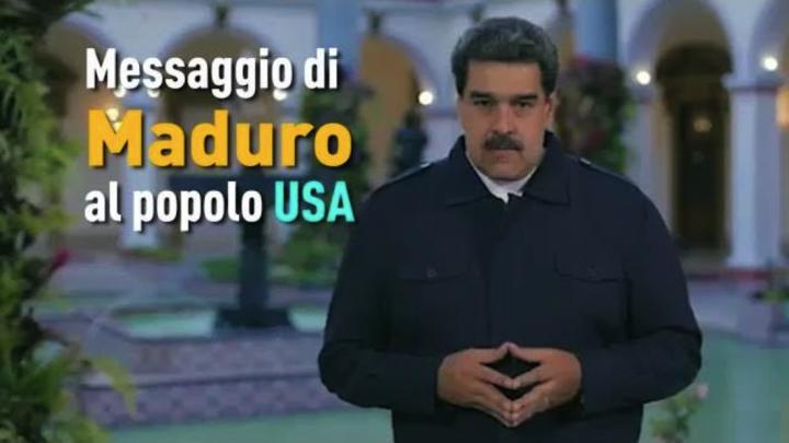 Messaggio fraterno di Maduro al popolo USA