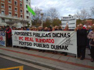 Bilbao (España), la lucha incansable por blindar las pensiones públicas