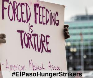 La huelga de hambre continúa en la séptima semana durante la visita de Trump a El Paso