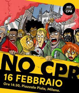 Milano, manifestazione contro il decreto Salvini e i CPR
