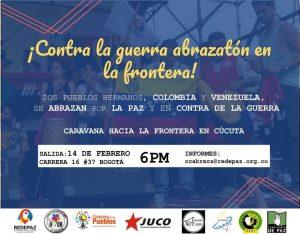 Caravana por la paz marchará hacia la frontera colombo-venezolana