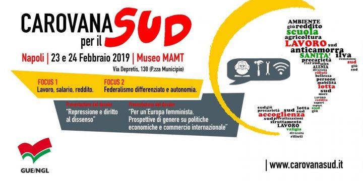 A Napoli la Carovana per il Sud 2.0 il 23 e 24 febbraio