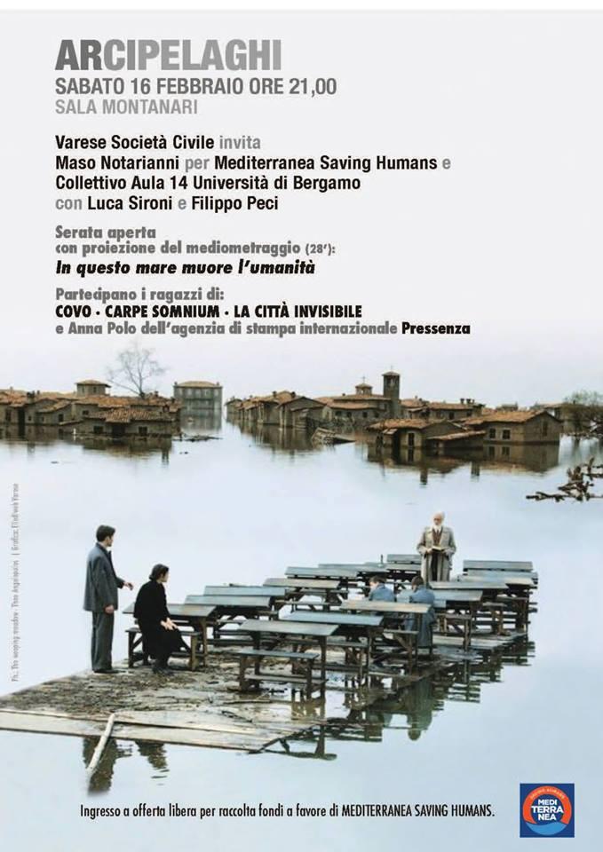 """""""Arcipelaghi"""",  una serata con Mediterranea e il collettivo Aula 14 dell'università di Bergamo"""