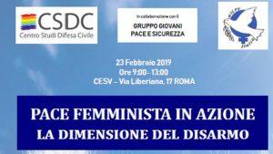 """Roma: incontro della WILPF """"La dimensione del Disarmo"""""""