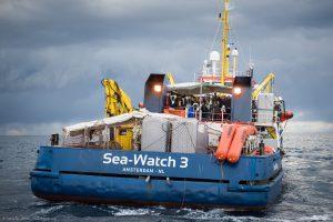 Sea-Watch 3 lascia Catania e si dirige verso cantiere navale in Francia per una manutenzione programmata