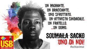 USB ammessa come parte civile nel processo per l'assassinio di Soumaila Sacko
