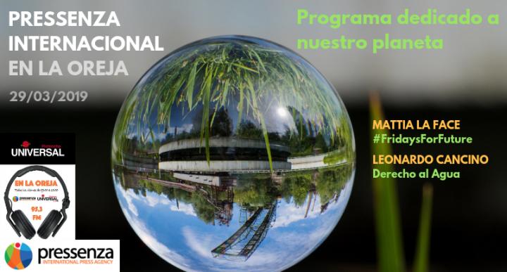 #FridaysForFuture y Derecho al Agua en Pressenza Internacional En La Oreja – 29/03/2019