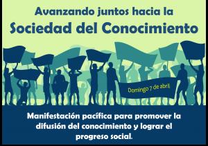 Manifestación en Madrid por el avance del conocimiento