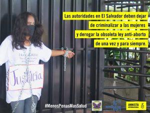 El Salvador, libere tre donne condannate a 30 anni per aborto spontaneo