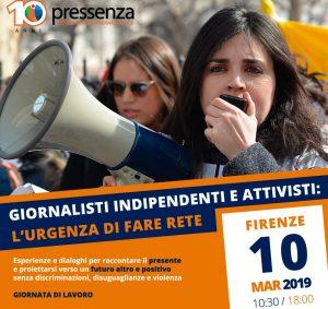 Pressenza: en Florencia el 10 de marzo para formar una red entre activistas y periodistas