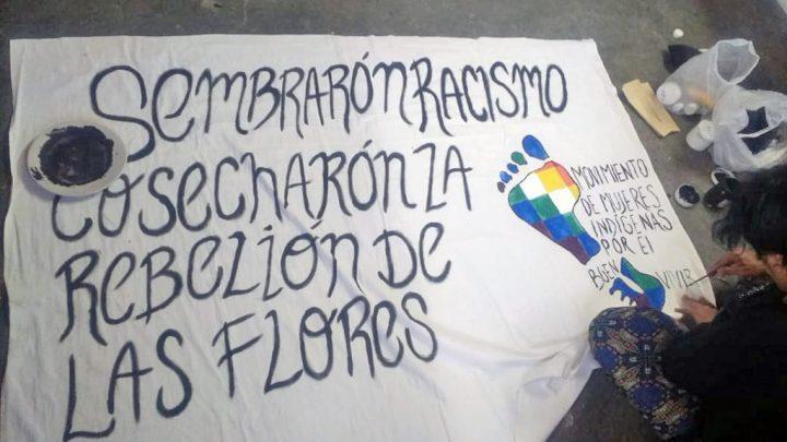 Mujeres indígenas: «Sembraron racismo, cosecharon la rebelión de las flores»
