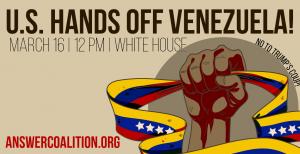 Marcha nacional a Washington: EEUU, ¡manos fuera de Venezuela!