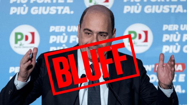 """Zingaretti e il """"male minore"""": ricetta sempreverde per annullare politica, dibattito, contenuti"""