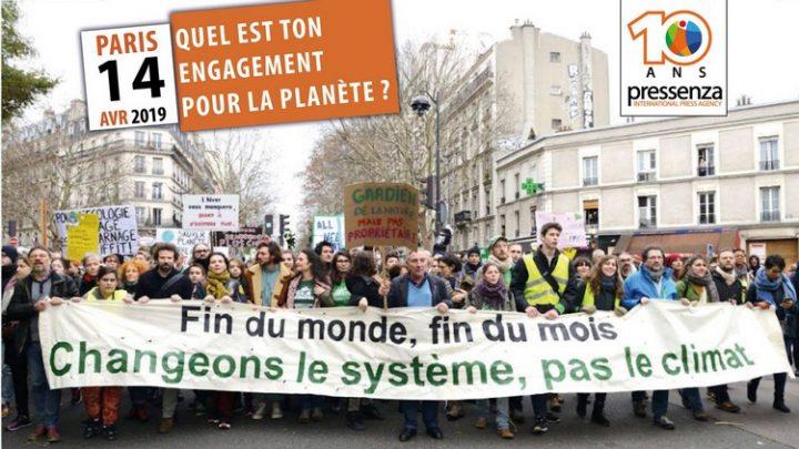 [10 años Pressenza – Paris] Evento: «¿Cuál es tu compromiso con el planeta?»