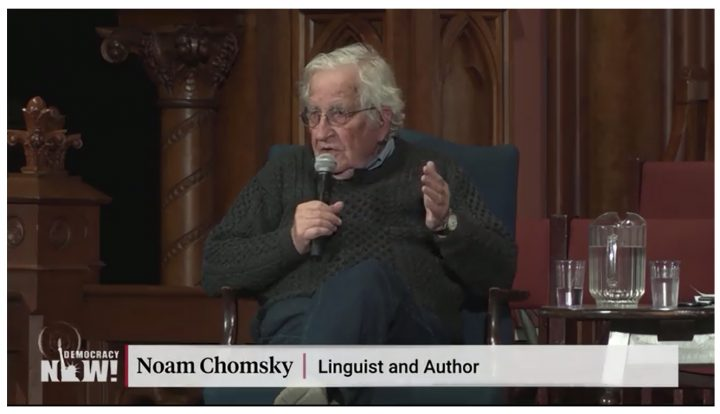 """Chomsky: Arrest of Assange Is """"Scandalous"""" and Highlights Shocking Extraterritorial Reach of U.S."""