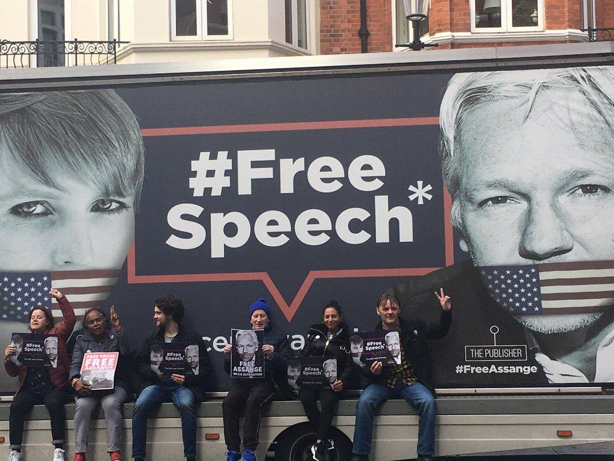 Image result for free assange