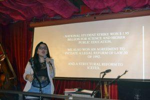 Conversatorio con Jennifer Pedraza, lider estudiantil Colombiana en New York