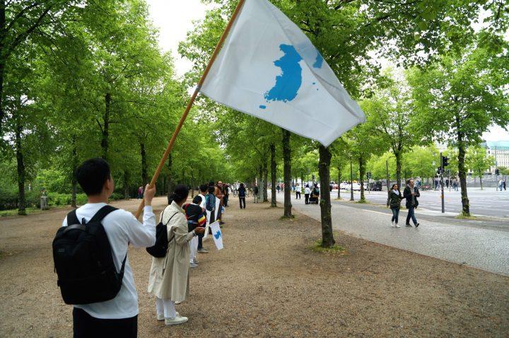 Menschenkette Korea Weltfrieden10