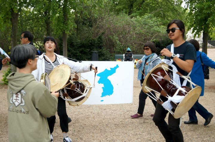 Menschenkette Korea Weltfrieden9