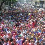 manifestazione chavista in Venezuela