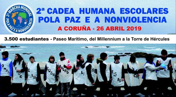 3.500 écoliers pour la Paix et la Nonviolence à La Corogne