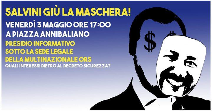Comunicato Stampa della rete Restiamo Umani. Si scrive accoglienza, si legge profitto: Giù la maschera Salvini!