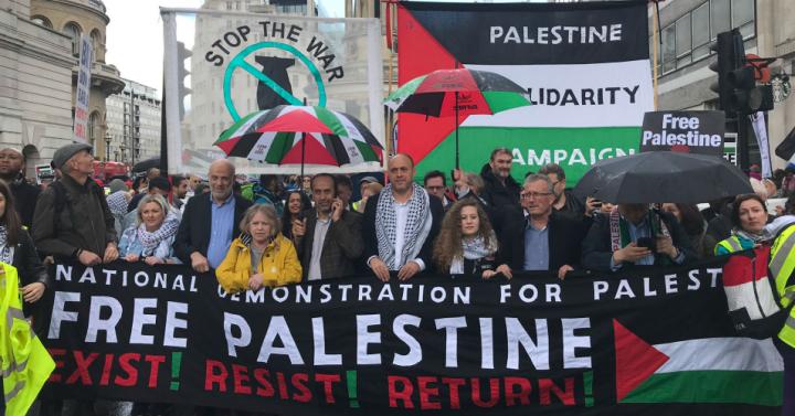 London Demo:'Stop Arming Israel, Stop Bombing Gaza'
