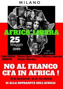 Annullamento Marcia Pacifica per la Pace e l'Indipendenza monetaria dell'Africa