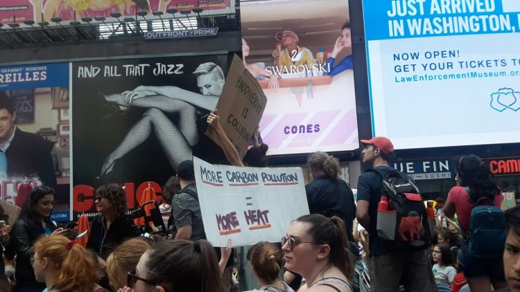Climat Emergency Rally NYC May 2019 Sign 2