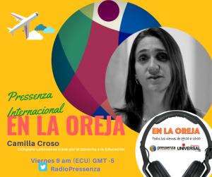 """Camilla Croso: """"La SAME es un momento de articulación, de valorar el trabajo en común y buscar cambios concretos para la educación"""""""