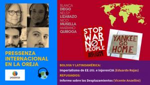 InjerenCIA y Desplazamientos en @RadioPressenza – 24/05/2019