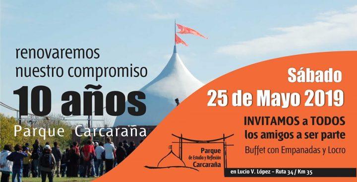 El Parque Carcarañá celebra su 10 aniversario el próximo 25 de mayo