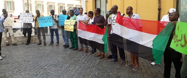 Sudan: sit-in a Montecitorio, consegnata lettera a Camera dei deputati e presidente Fico