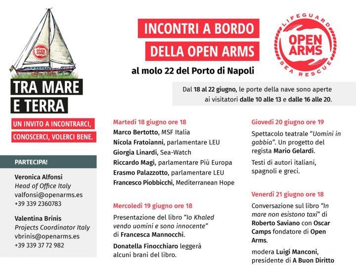 Open Arms, una settimana di eventi a Napoli