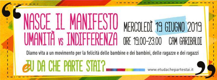 """Nasce il Manifesto di """"Umanità vs Indifferenza"""""""
